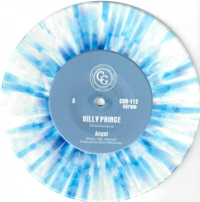 Billy Prince (Of The Precisions) – Angel / I Want You 7″ Blue White Splatter Repress